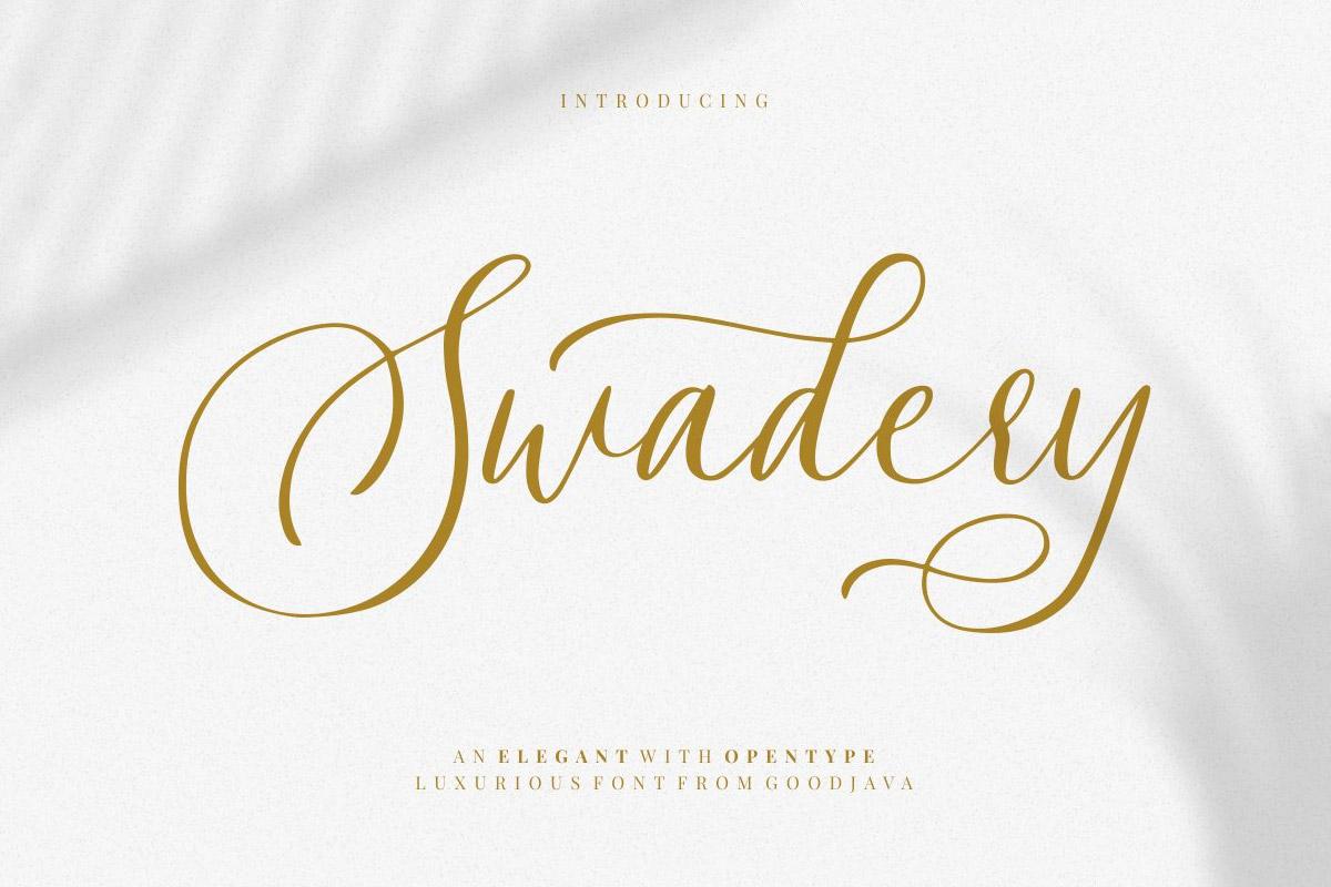 Free Swadery Script Font