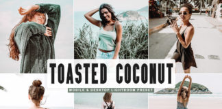 Free Toasted Coconut Lightroom Preset