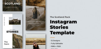 12 Free Scotland Instagram Stories Template