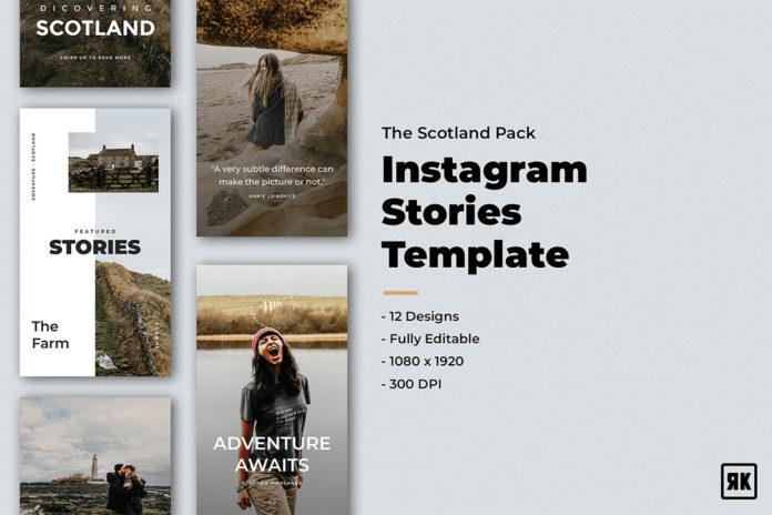 12 Free Scotland Instagram Stories Template