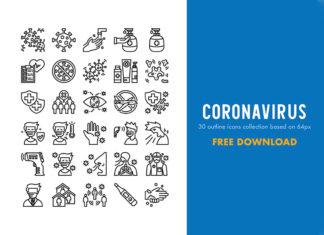 30 Free Coronavirus Icon Collection