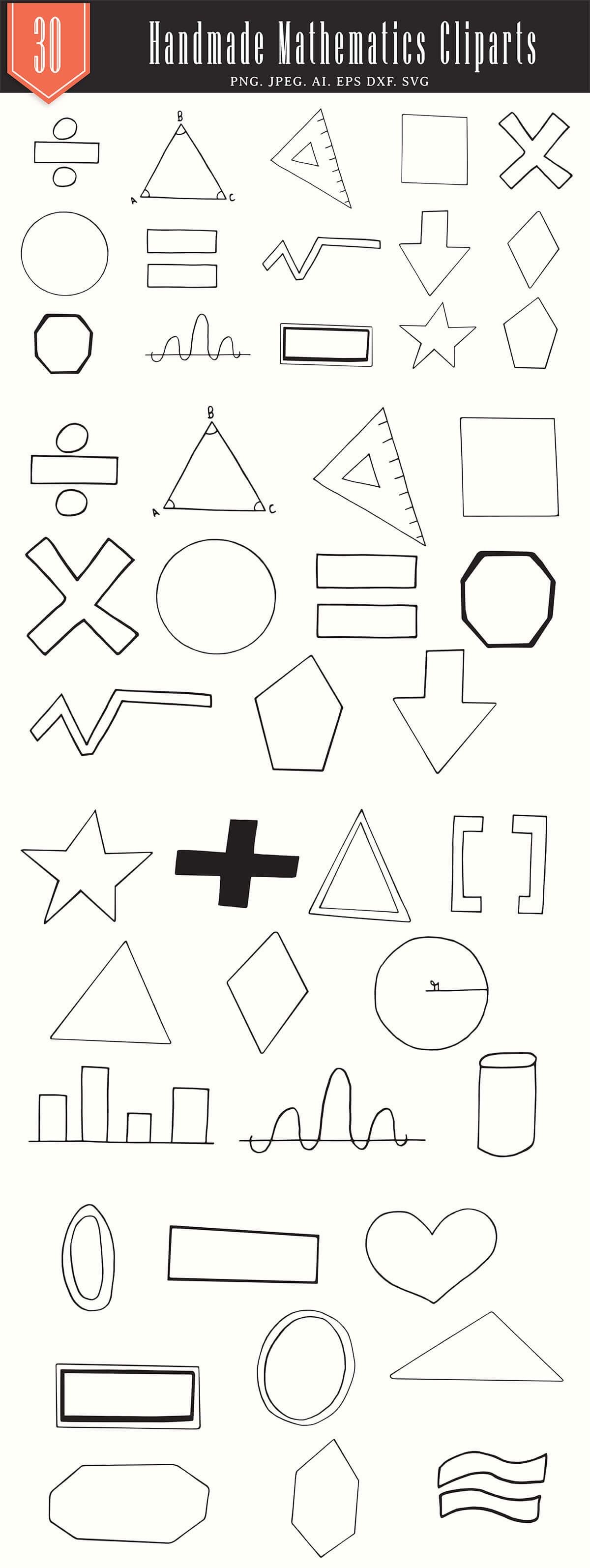 25+ Free Handmade Mathematics Cliparts