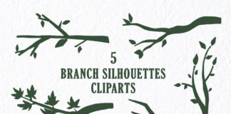 Free Branch Silhouettes Handmade Cliparts