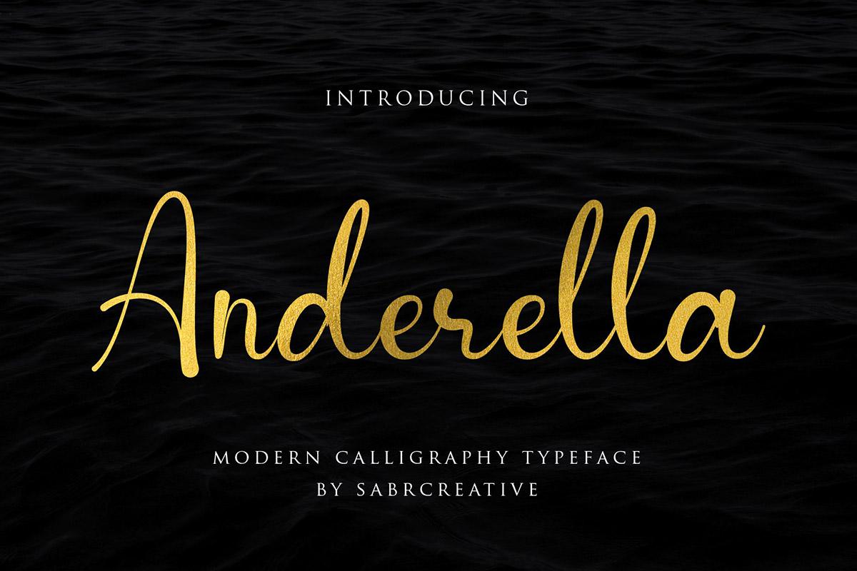 Free Anderella Script Font