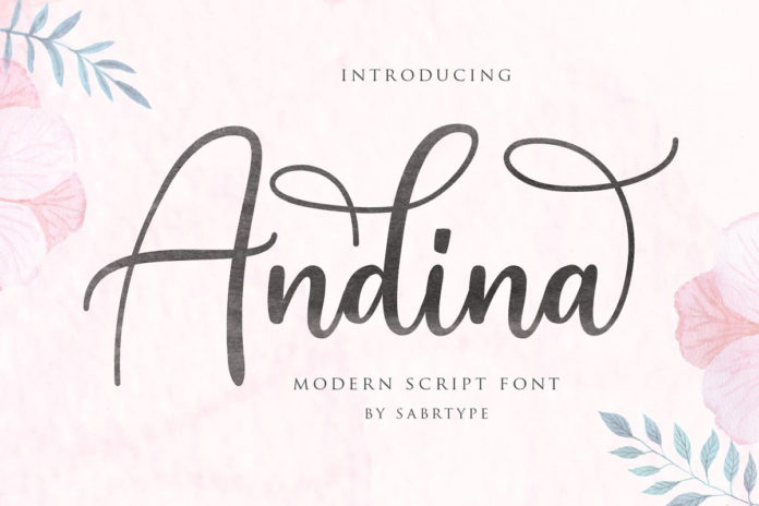Free Andina Script Font