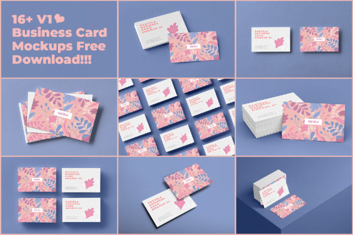 Free Business Card Mockup Collection V1