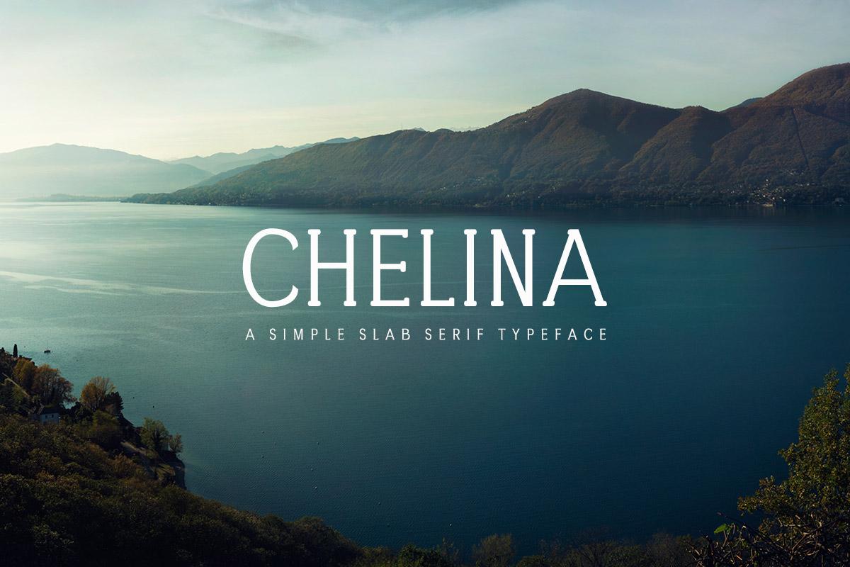 Free Chelina Slab Serif Typeface