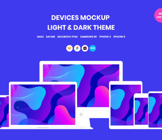 Free Devices Vector Mockup Pack