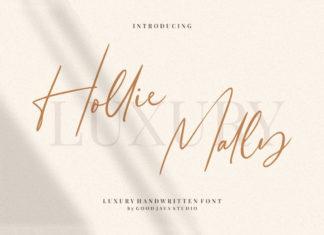 Free Hollie Mally Script Font