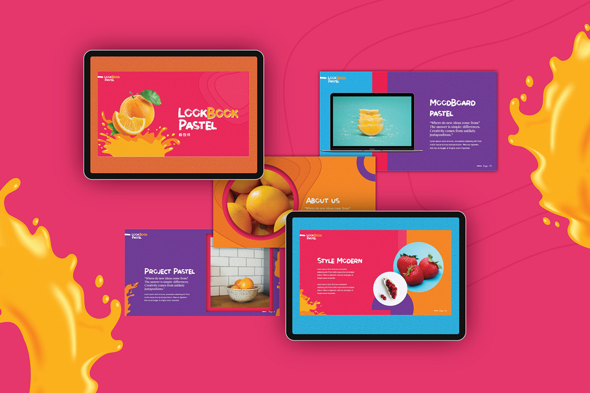 Free Lookbook Pastel V2 Presentation Template