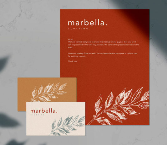 Free Marbella Stationery Mockup Template