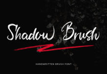 Free Shadow Brush Font