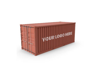 Free Shipping Container Mockup