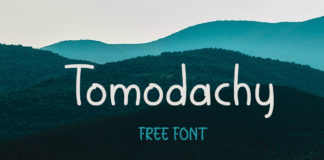 Free Tomodachy Handwriting Font