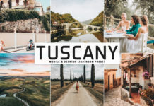 Free Tuscany Lightroom Preset