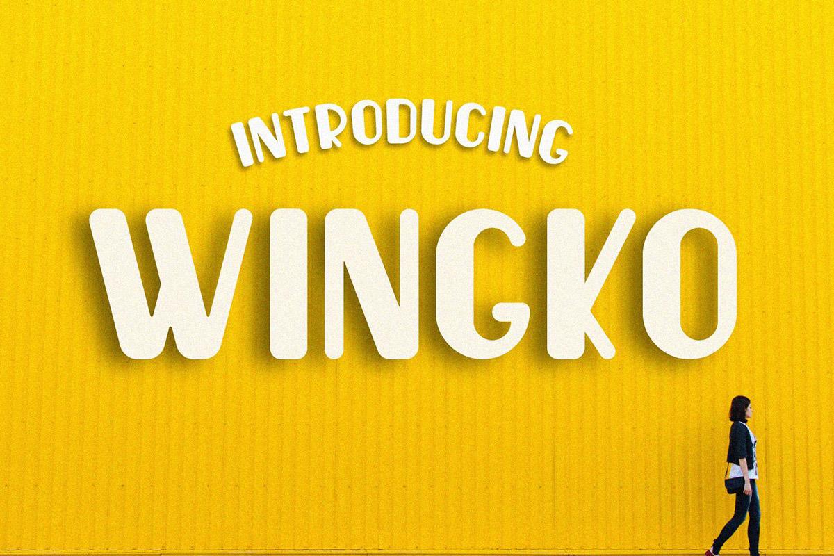 Free Wingko Sans Serif Font