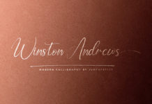 Free Winston Andrews Script Font