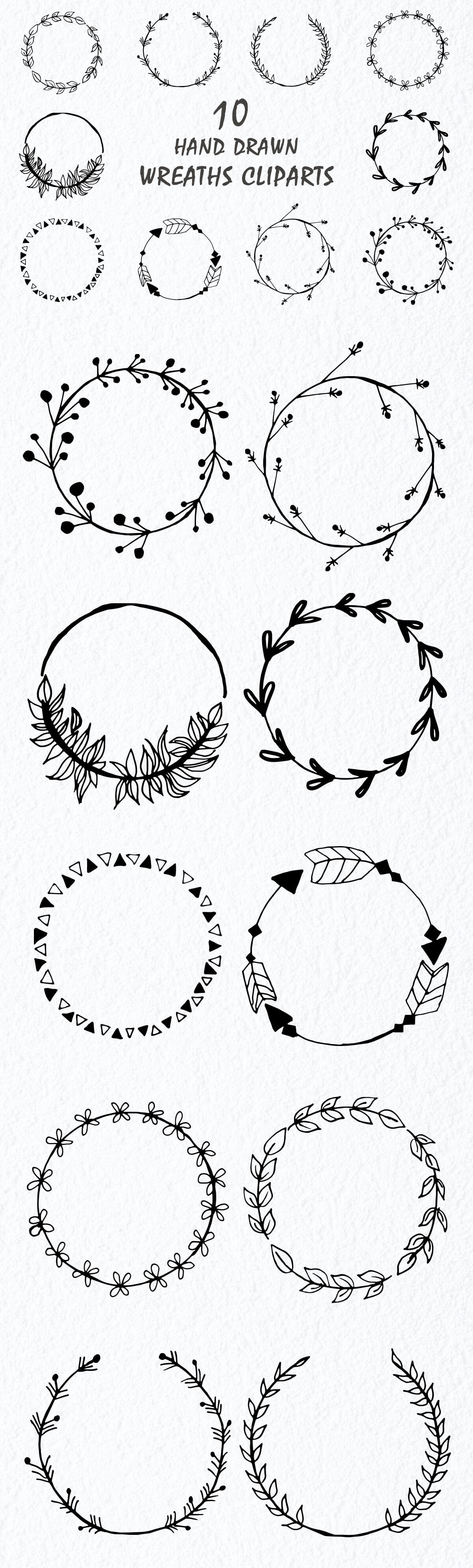Free Handmade Wreaths Cliparts