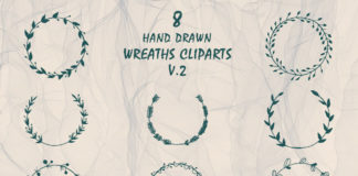 Free Handmade Wreaths Cliparts V2