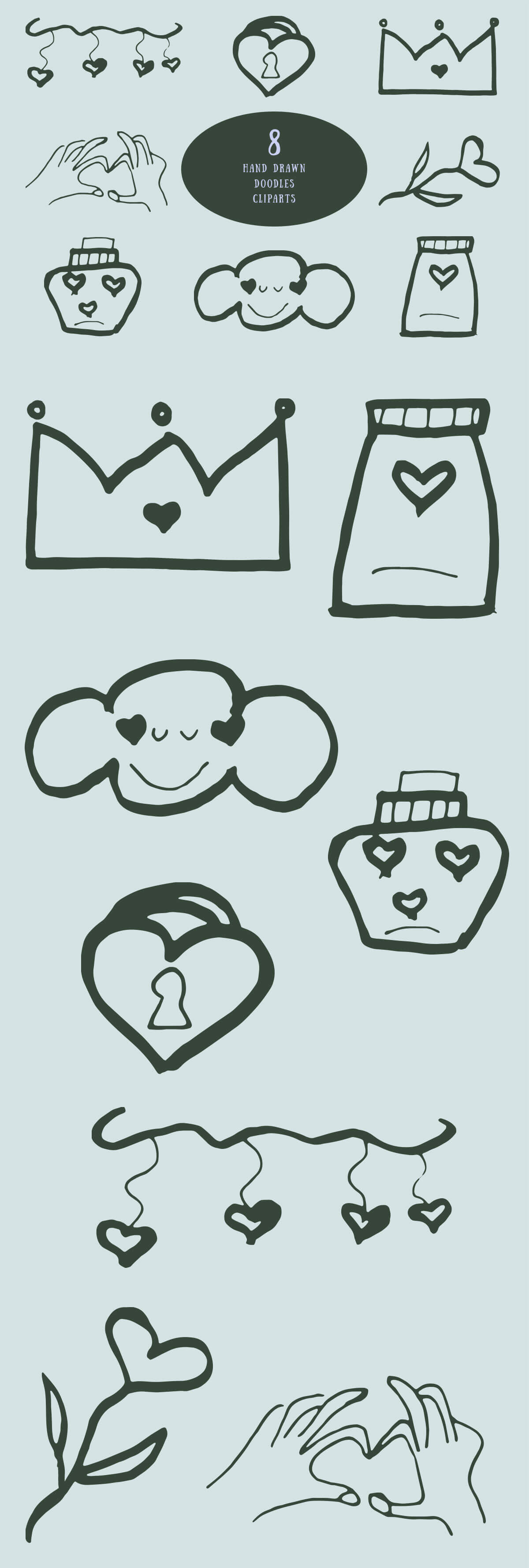 Free Doodles Handmade Cliparts