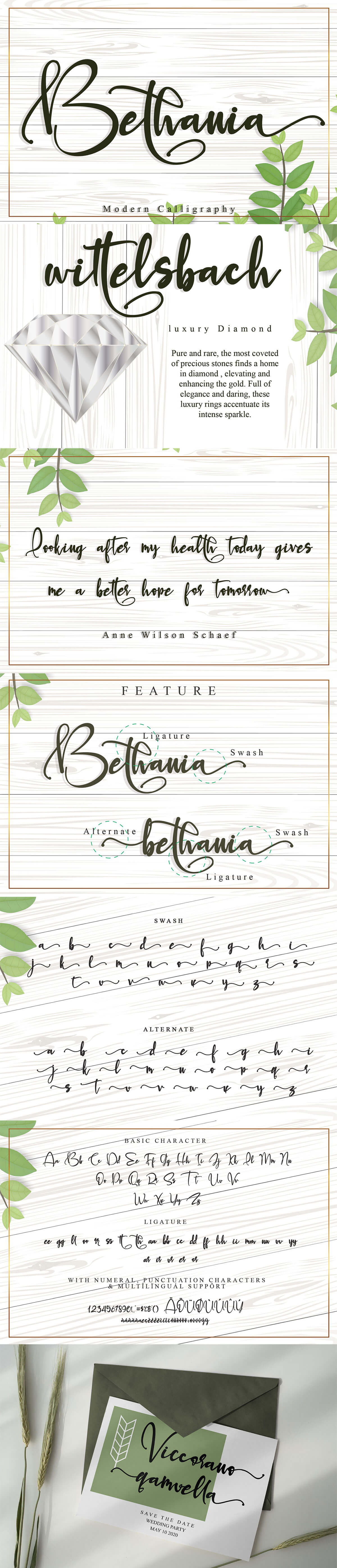 Free Bethania Calligraphy Font