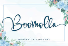 Free Boomolla Calligraphy Font