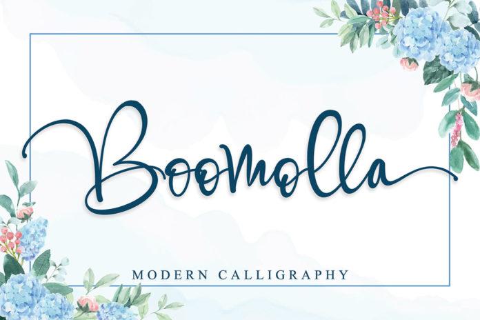 Free Boomolla Calligraphy Font