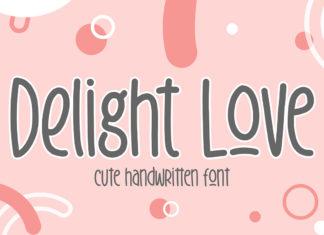 Free Delight Love Handwritten Font