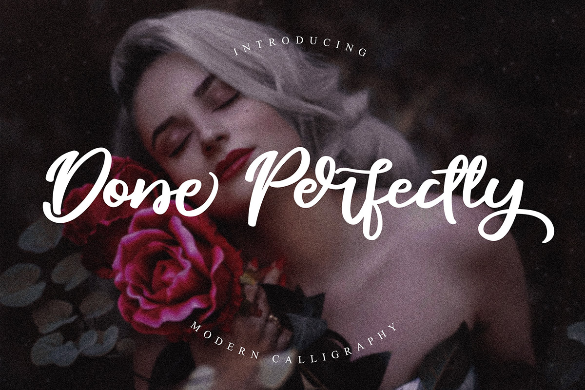 Free Done Perfectly Calligraphy Font