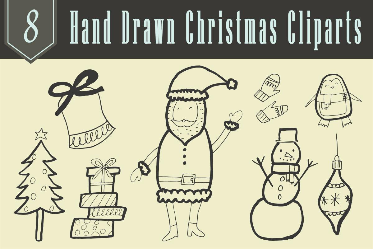 Free Hand Drawn Christmas Cliparts