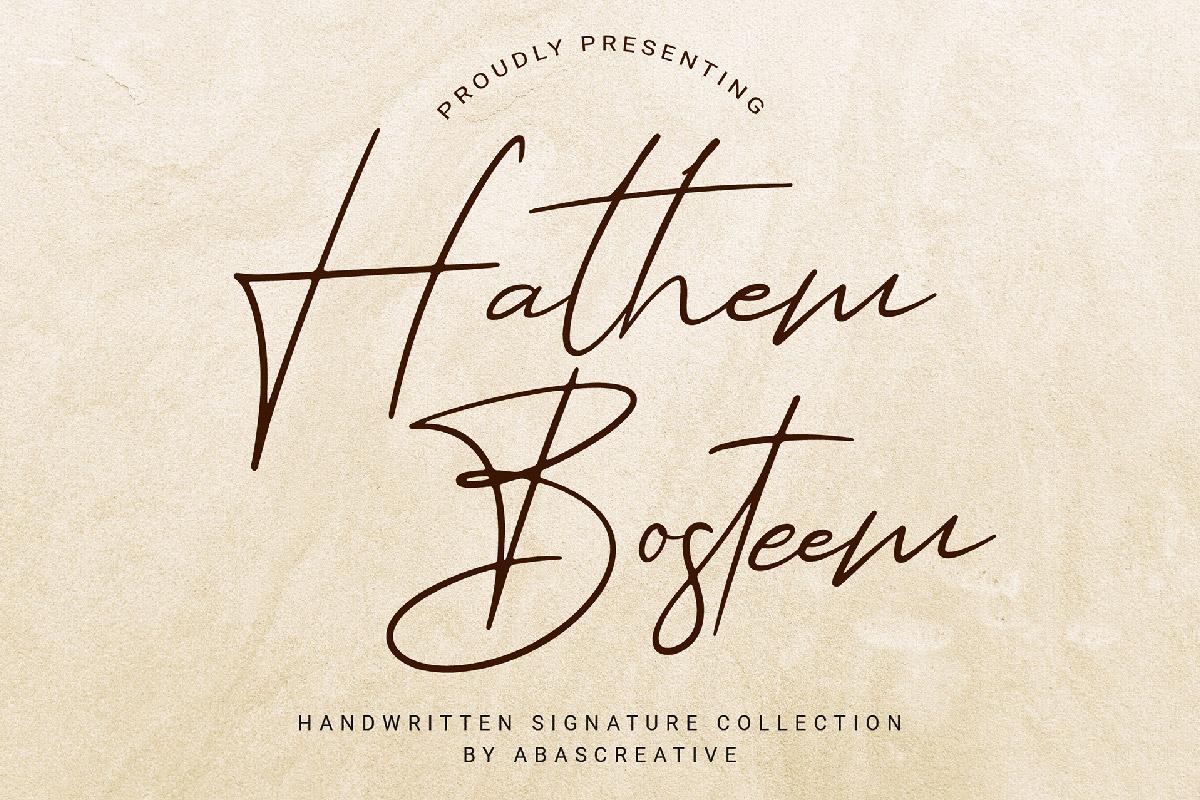 Free Hathem Bosteem Signature Font