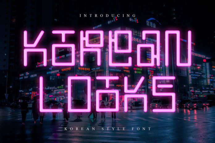 Free Korean Looks Display Font