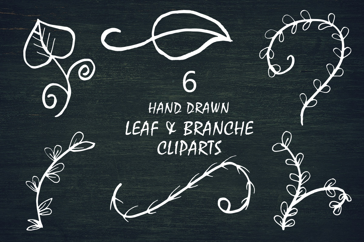 Free Leaf & Branche Handmade Cliparts