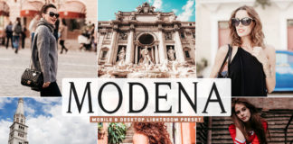 Free Modena Lightroom Preset