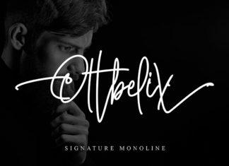 Free Ottbelix Signature Font