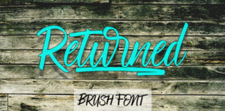Free Returned Brush Font