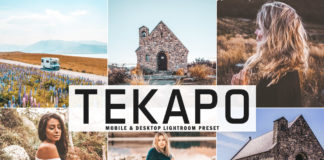 Free Tekapo Lightroom Preset