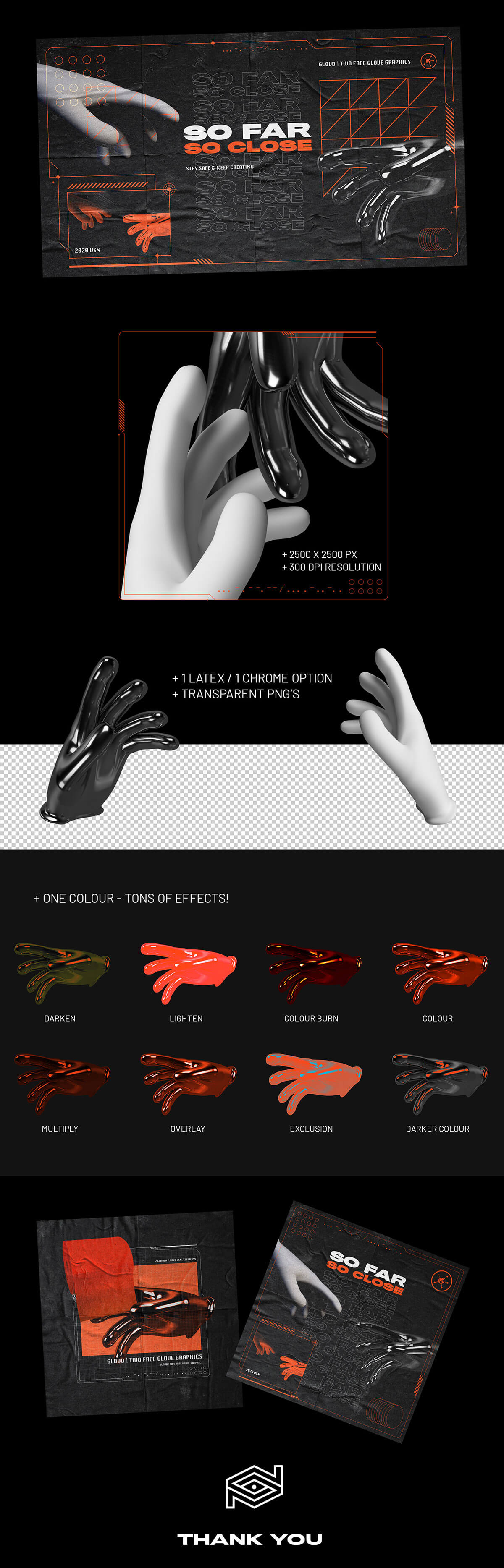 Free Two Glove Graphics
