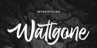 Free Wattgone Handbrush Font