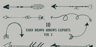 Free Handmade Arrows Cliparts V2