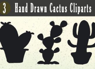 Free Handmade Cactus Cliparts