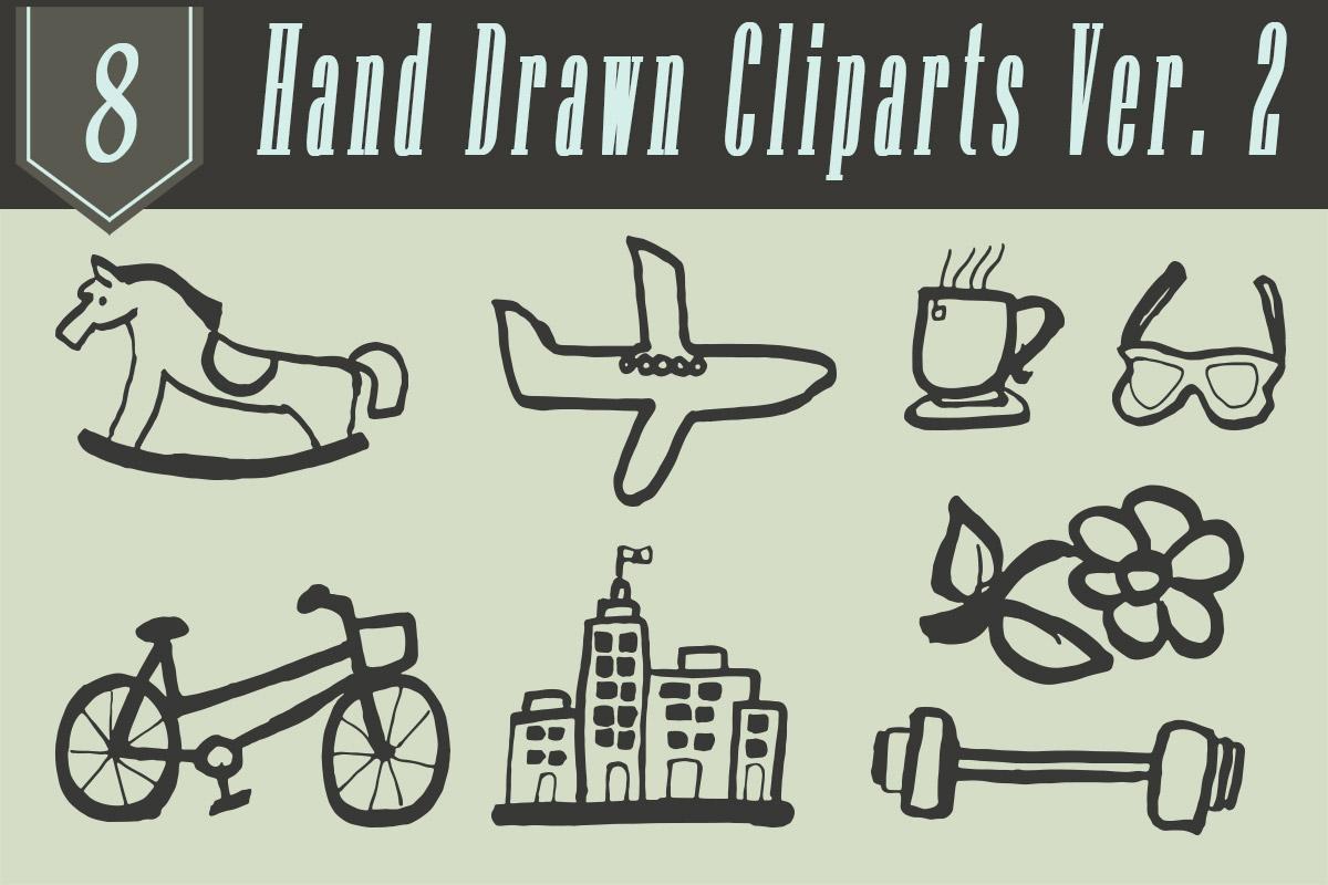 Free Handmade Miscellaneous Cliparts V2