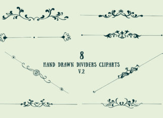 Free Handmade Dividers Cliparts V2