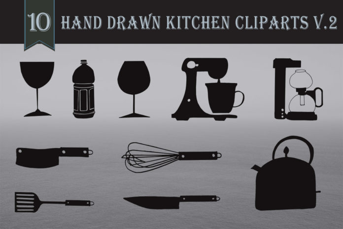 Free Handmade Kitchen Cliparts V2