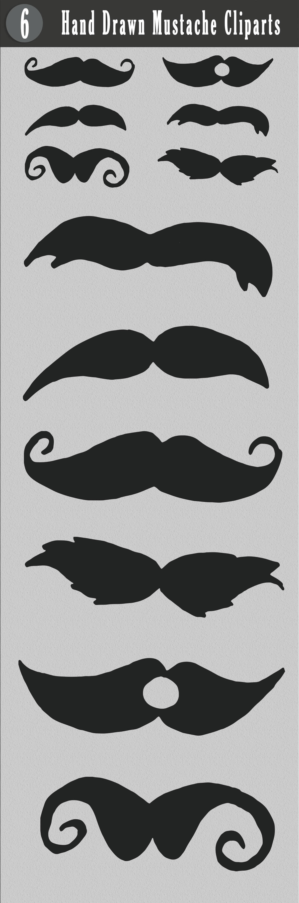 Free Handmade Mustache Cliparts