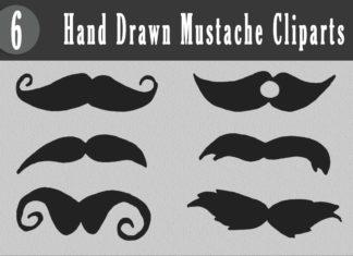 Free Handmade Mustache Cliparts