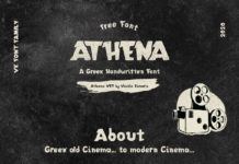Free Athena Greek Handwritten Font