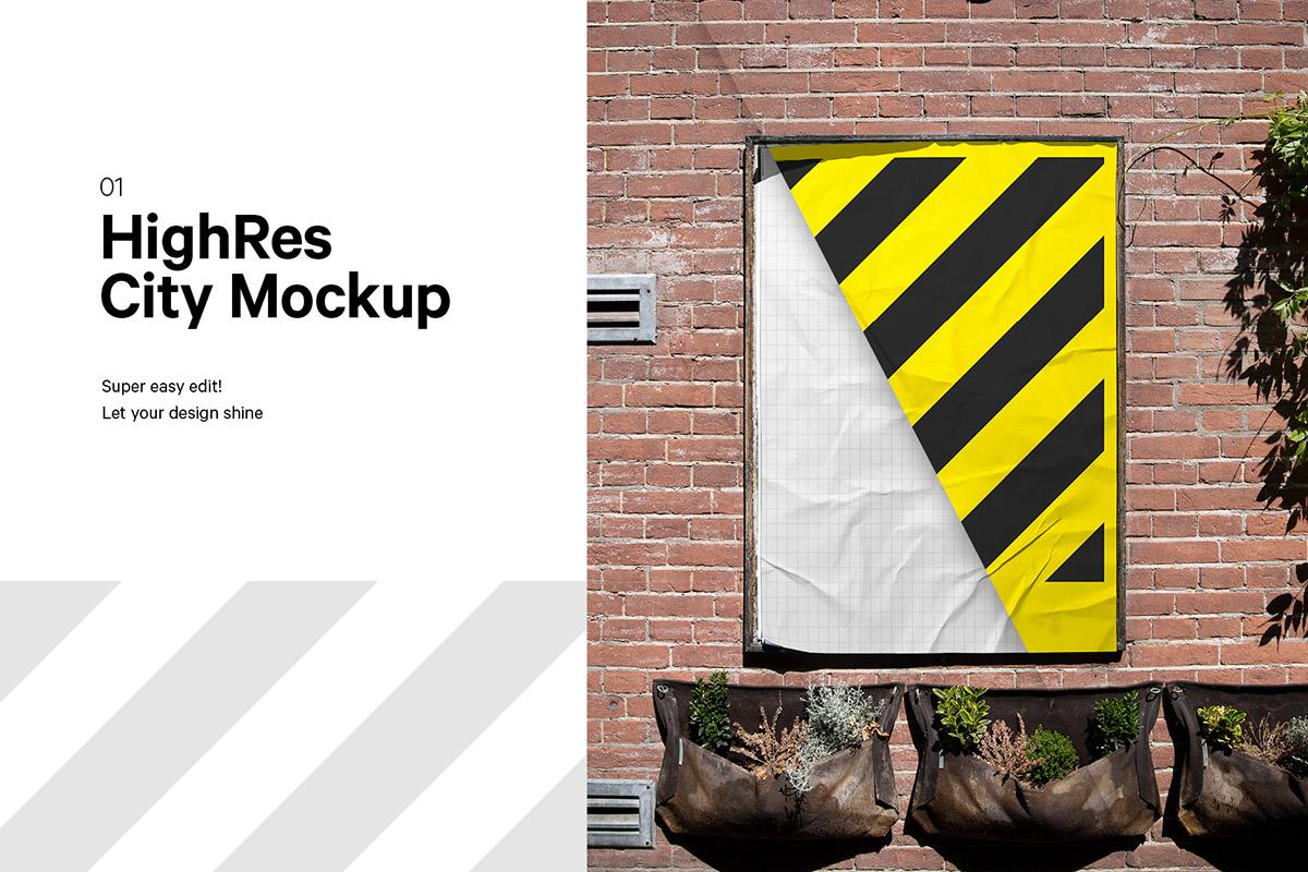 Free City Poster Mockup