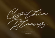 Free Cynthia Blooms Calligraphy Font