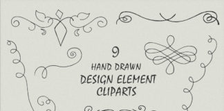 Free Handmade Design Element Cliparts